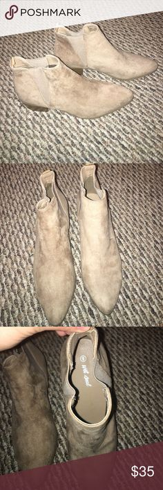 Never worn brown booties Never worn brown booties ! Wet Seal Shoes Ankle Boots & Booties
