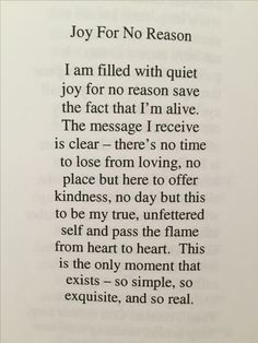 Joy for no reason - by Danna Faulds
