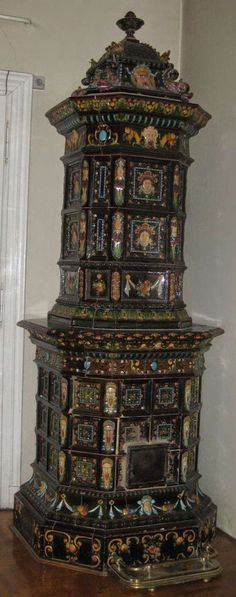 Antik antiker Kachelofen Zsolnay 1898