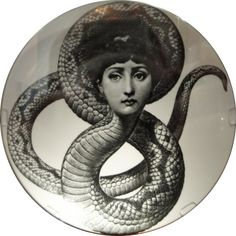 "Plate 198 from Piero Fornasetti's ""Theme and Variations"" series"