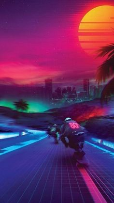 Cyberpunk Aesthetic, Arte Cyberpunk, Neon Aesthetic, Wallpaper Animes, Neon Wallpaper, Neon City, Amoled Wallpapers, Vaporwave Wallpaper, Vaporwave Art