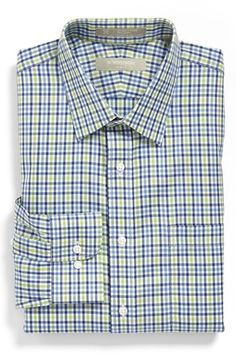 Nordstrom Smartcare™ Wrinkle Free Trim Fit Plaid Dress Shirt available at #Nordstrom