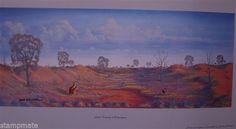Jack Absolom - SIGNED PRINT SAND COUNTRY MULYUNGARIE