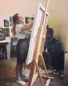 "Jemima Kirke (jemima-kirke-art: Painting ""Sarah"", June 2015)"