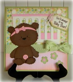 Ideas for baby cards cricut teddy bears New Baby Girls, Baby Girl Gifts, Best Baby Bottles, Fun Baby Announcement, Bear Card, Baby Crafts, Kids Cards, New Baby Products, Teddy Bears