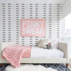 Tan and Pink Toddler Girl Bedroom, Contemporary, Girl's Room