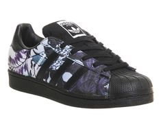 Buy Core Black Floral Print W Adidas Superstar 1 from OFFICE.co.uk.