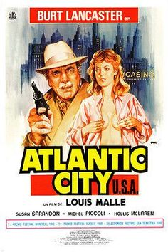louis malle's ATLANTIC CITY move poster susan SARANDON burt LANCASTER 24X36 Brand New. 24x36 inches. Will ship in a tube. Reproduction of aged original vintage art print. Great wall decor art print at