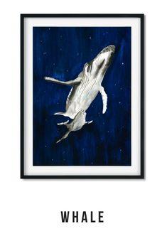 Whale art print Whale Art, Giclee Print, Paintings, Art Prints, Garden, Illustration, Artwork, House, Art Impressions