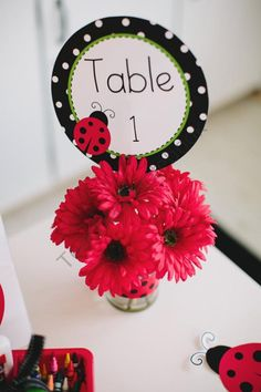 Lovely Ladybugs Table and Center Signs from Schoolgirl Style on TeachersNotebook.com (8 pages)  - Lovely Ladybugs Table and Center Signs