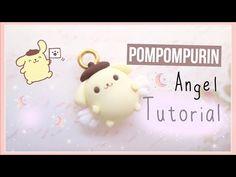 Pompom Purin Angel Charm polymer clay tutorial