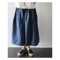 [GRANDMA MAMA DAUGHTER] ストライプ プリーツスカート 商品詳細 TAKANNA/たかんな - ONLINE SHOP