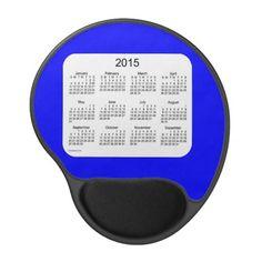 Blue 2015 Calendar Gel Mouse Pad Design from Calendars by Janz