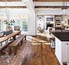 33 Stunning Farmhouse Interior Design Ideas To Realize Your Dreams – Dream House Küchen Design, Design Case, Layout Design, Design Ideas, Design Trends, Design Inspiration, Rustic Country Kitchens, Kitchen Rustic, Outdoor Kitchen Design