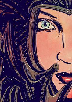 Fantasy Girl with helmet by giuseppecristiano (rétrogirl)