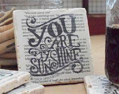 You Are My Sunshine Beverage Coasters - Juli Becker