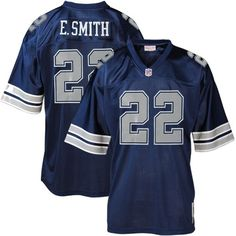 NFL Mitchell And Ness Dallas Cowboys #22 Emmitt Smith Blue Replica Throwback Jersey$69.99