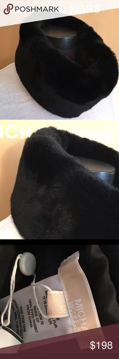 🆕MICHAEL KORS NEW REAL FUR SCARF 💯AUTH MICHAEL KORS NEW WITH TAGS NEVER USED REAL DYED RABBIT FUR  INFINITY SCARF . 100% AUTHENTIC. STUNNINGLY FASHIONABLE AND LUXURIOUS . VERY SOFT AND HIGH END. LOOKS GREAT FOR ALL OF YOUR FALL AND WINTER OUTFITS.  THIS SCARF CAN BE FOLDED TO BE MADE SLIMMER OR EXTENDED FOR A WIDE COWL NECK LOOK. IT MEASURES 27 INCHES AROUND AND 8 INCHES WIDE Michael Kors Bags
