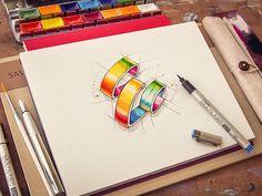 Logotype Pencil Drafts