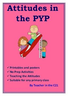 A must-have for any PYP teacher. This pack will give you resources and ideas to assist you in teaching the attitudes. Eye catching, colourful, no prep printables will help students to understand the attitudes. The target setting and reward certificates will help your students become more adept at recognising and developing the attitudes independently.Attitudes are one of the 5 essential elements of the International Baccalaureate Primary Years Programme (PYP).