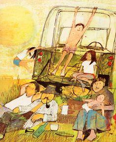 "John Burningham is one of my favourite illustrators. ""Seasons"" is a beautiful book."