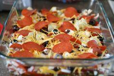 Zucchini crust pizza 'casserole'