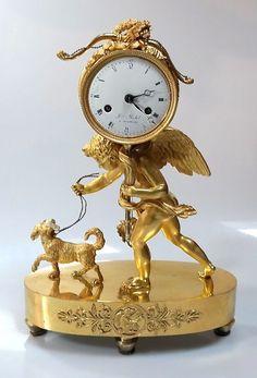 Clocks – Decor : Empireuhr um 1800 -Read More – Antique Wall Clocks, Old Clocks, Clock Art, Clock Decor, Wall Clock Brands, Rock Around The Clock, Classic Clocks, Unique Clocks, Mantel Clocks