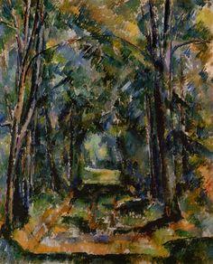 L'Allée à Chantilly (P Cézanne - R 614)