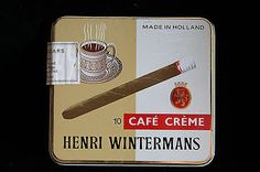 Vintage Tobacco Tin - Henri Wintermans Cafe Creme Small Cigars