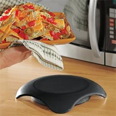 "Microwaveable Hot Plate, Keep Food Hot, Serving Hot Pad . A must have for the holidays or ""everydays""."