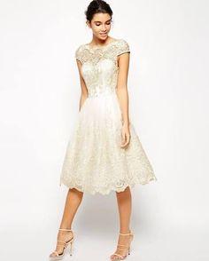 midi wedding dresses - Google Search