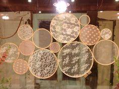 The Honey Pot: Lace Hoop Art {tutorial}