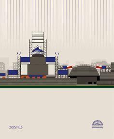 MLB Baseball Stadiums by Marcus Reed, via Behance