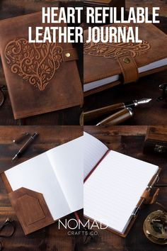 The perfect refillable leather journal cover for her daily journaling, observation writing, future goals, love notes, etc. This journal is very convenient, lightweight and handy when taking down traveling memories.