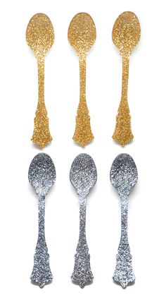 i mean.... could these BE any cooler? glitter teaspoon set, $34