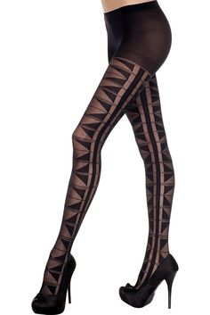 #MusicLegs #StaySexy   https://www.fifty-6.com/en/catalog/clothing/music-legs/hosiery/pantyhose-70 Cod.: ml7291 #pantyhose   Spandex sheer multi triangle design pantyhose Color: Black Sizes: One Size Material: 100% nylon
