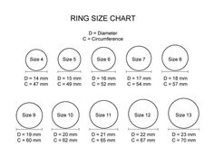 ring sizes and rings on pinterestring size chart