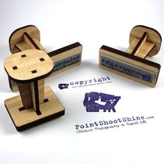 Custom Rubber Stamp Timber  Logo return address by VectorEtch