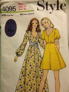 Vintage 1970s Style Sewing Pattern Bell by CoverStoryDesigns
