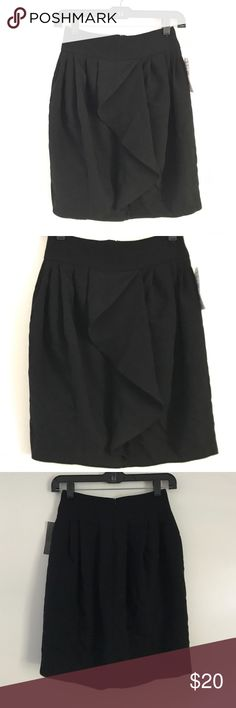 NWT Zara Black Skirt A new with tags Zara black skirt with chic draping in the front and pleated details. From the office to dates this skirt will go well with everything. Size extra small. Zara Skirts