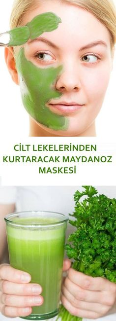 Parsley Mask to Remove Skin Blemishes- Cilt Lekelerinden Kurtaracak Maydanoz Maskesi Parsley Mask to Save Skin Stains, will the the - Cucumber Face Mask, Remover Manchas, Blonde Hair Care, Blemish Remover, Brown Spots On Face, Diy Hair Care, Skin Spots, Skin Mask, Healthy Skin Care