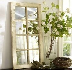Creative ideas to recycle old windows and use them as feature design items in your home! Use scrapbook paper, fabric, mirrors, your favorite photographs, even as cupboard doors or just by themselves... :)