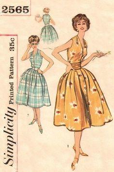 Simplicity 2565 Hot Tamale Dress & Cummerbund / ca. 1958