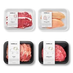 Corella for from a carnicería in Barcelona. Food Packaging Design, Packaging Design Inspiration, Brand Packaging, Packaging Ideas, Food Design, Meat Box, Meat Packing, Branding, Grafik Design