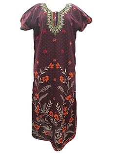 Boho Gypsy Kaftan Caftans Maroon Printed Cotton Dress for Womens Large Mogul Interior http://www.amazon.com/dp/B00T660G26/ref=cm_sw_r_pi_dp_4DG0ub08RQZPK