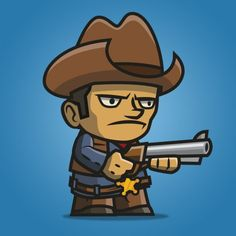Tiny Cowboy – A set of tiny character sprite for side scrolling western themed game. 2d Game Art, 2d Character, Game Assets, Game Ui, Pictures To Draw, Free Games, Cool Drawings, Minions, Westerns