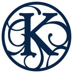 Silhouette Design Store: circle flourish monogram k
