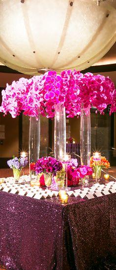 Varinda & Eric's Glamorous Wedding at Mandarin Oriental Hotel NY Reception Decorations, Event Decor, Wedding Centerpieces, Orchid Centerpieces, Reception Ideas, Wedding Events, Our Wedding, Dream Wedding, Table Wedding