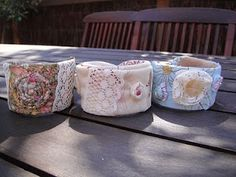 Recycled Fashion: Recycled Plastic Bottle Cuffs for Charity Auction