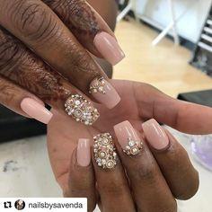 #Repost @nailsbysavenda (@get_repost) ・・・ #nailsofinstagram #nailstagram #wakeupandmakeup #nailpromagazine #nails2inspire #swarovski #bling #riyasnailsalon